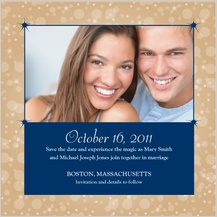 Save the Date Card with photo - magical