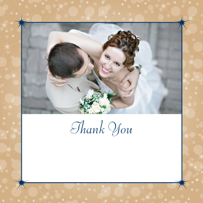 Wedding Thank You Card with photo - Magical