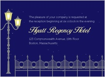 Reception Card - charming evening