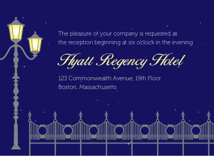 Reception Card - Charming Evening