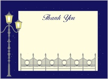 Wedding Thank You Card - charming evening