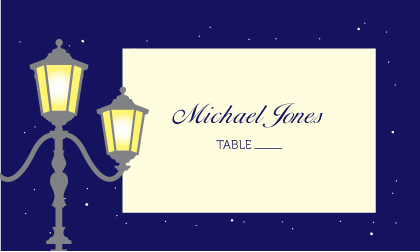 Place Card - Charming Evening