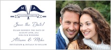 Save the Date Card with photo - nautical inspired wedding