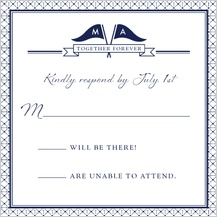 Response Card - nautical inspired wedding