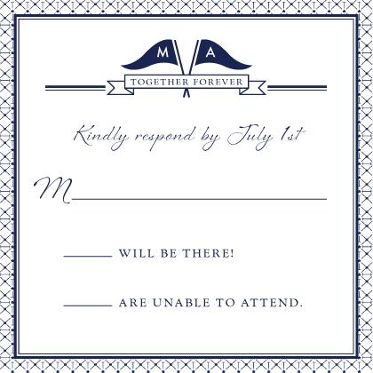 Response Card - Nautical Inspired Wedding