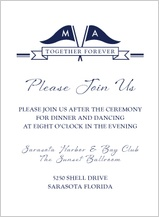 Reception Card - nautical inspired wedding