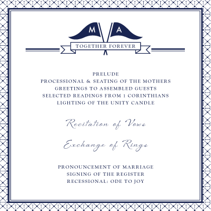 Program - Nautical Inspired Wedding