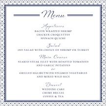 Menu - nautical inspired wedding