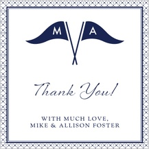 Wedding Thank You Card - nautical inspired wedding