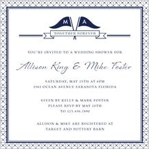 Wedding Shower Invitation - nautical inspired wedding