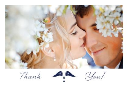 Wedding Thank You Card with photo - Nautical Inspired Wedding