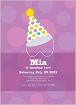 Birthday Party Invitation - party hat