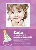 Birthday Party Invitation with photo