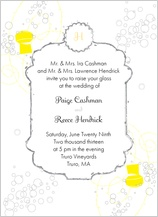 Wedding Invitation - pop the champagne!