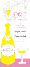 Save the Date Card - pop the champagne!