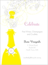 Reception Card - pop the champagne!