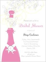 Wedding Shower Invitation - pop the champagne!