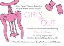 Bachelorette Party Invitation - girls night out