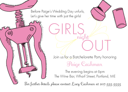Specs girls night out party invitation