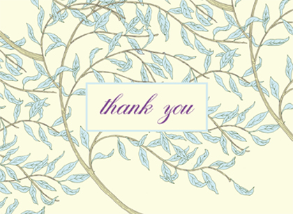 Wedding Thank You Card - WILLOW