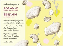 Wedding Invitation - shells