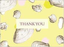 Wedding Thank You Card - shells