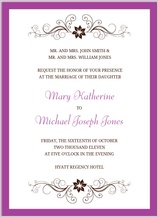 Wedding Invitation - sophisticated swirls
