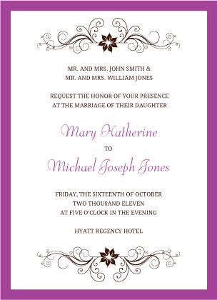 Wedding Invitation - Sophisticated Swirls
