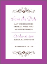Save the Date Card - posh petals