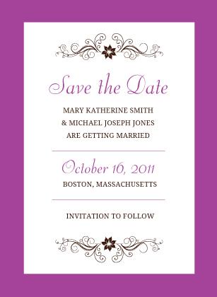Save the Date Card - Posh Petals