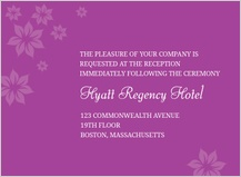 Reception Card - posh petals