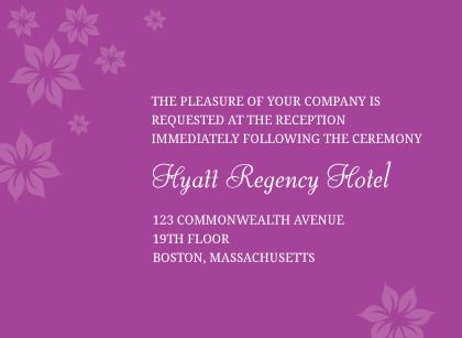 Reception Card - Posh Petals