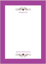 Wedding Thank You Card - posh petals