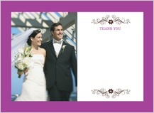 Wedding Thank You Card with photo - posh petals