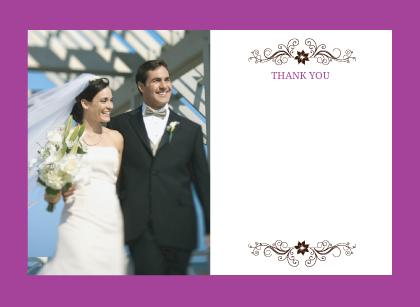 Wedding Thank You Card with photo - Posh Petals