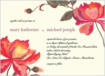 Wedding Invitation - peonies