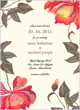 Save the Date Card - peonies