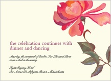 Reception Card - peonies