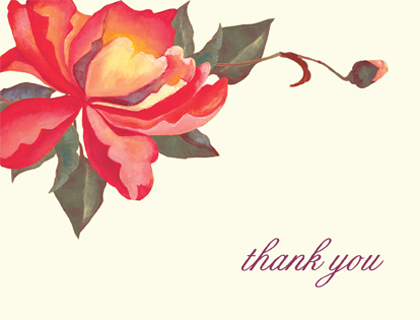 Wedding Thank You Card - PEONIES