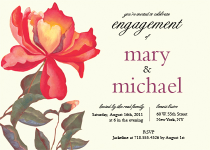 Engagement Party Invitation - PEONIES