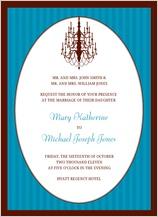 Wedding Invitation - classic chandelier
