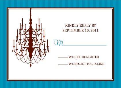 Response Card - Classic Chandelier