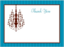 Wedding Thank You Card - classic chandelier