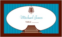 Place Card - classic chandelier
