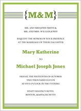 Wedding Invitation - contemporary monogram