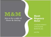 Reception Card - modern monogram
