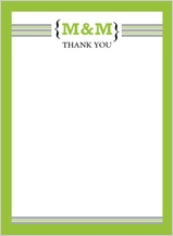 Wedding Thank You Card - modern monogram