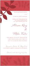 Wedding Invitation - vine is fine
