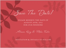 Save the Date Card - vine is fine