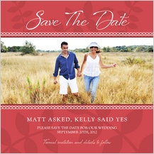 Save the Date Card with photo - vine is fine